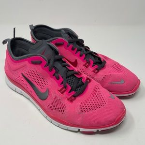 Nike Free TR FIT 4 Pink Gray 629496-600 Running Fitness Sneakers Womens Size 8